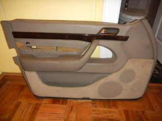 Mercedes W140 Driver Side Interior Leather Door Panel in Tan Color