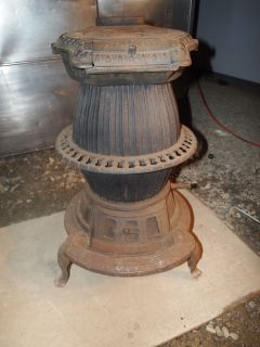 Cast Iron Pot Belly Stove March Brownback Pottstown PA Wood Coal