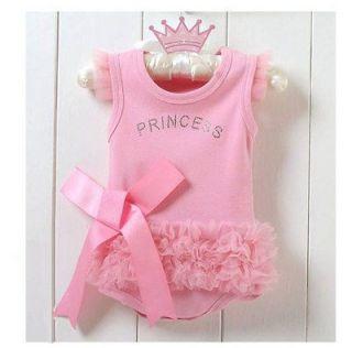 Baby Girl Princess Romper Short Top Suit Dress Costume Clothes 6 12M