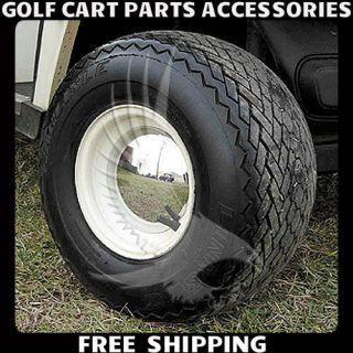 CHROME Babymoon Golf Cart 8 Hub Caps CLUB CAR, YAMAHA Set Wheel
