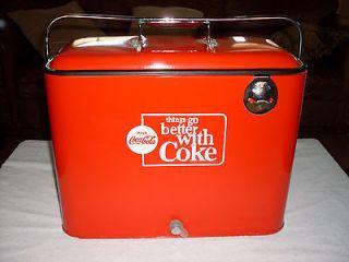 VINTAGE 1950'S COCA COLA RARE COOLER ICE CHEST UNRESTORED