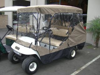 Golf cart driving enclosure cover. Fit 4 seater standard golf cart