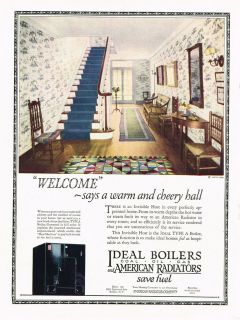 1924 AD Ideal coal, oil, gas Boilers and American Radiators