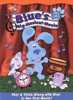 Blues Clues   Blues Big Musical Movie   VG DVD   Blues First Movie