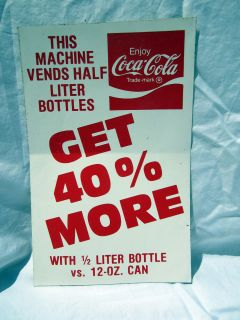 Coca Cola 1/2 Liter Coke Bottles Vending Machine Vinyl Sticker Decal
