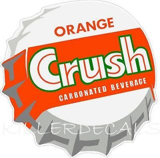 ORANGE CRUSH SODA COCA COLA PEPSI COOLER POP MACHINE DECAL STICKER