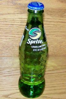 USA ACL 2006 USA Coca Cola Brand SPRITE 8 Oz GREEN GLASS BOTTLE FULL