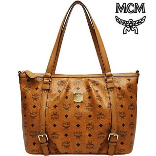 Vintage Visetos Medium Shopper Bag Cognac Handbag Authentic New_NWT