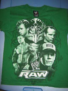 WWE MONDAY NIGHT RAW SHIRT JOHN CENA REY MESTERIO RANDY ORTON KIDS