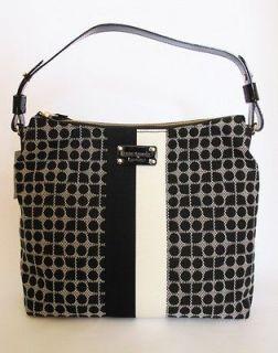 Kate Spade Classic Noel Medium Serena Black / White Shoulder Bag NWT