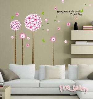 Color Trees Elegant Removable Wall Vinyl Decal Art DIY Home Decor