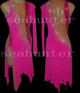Ballroom Ramba Cha Cha Latin Dance Dress US 8 UK 10 Skin Pink Color
