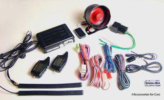 CAR ALARM REMOTE START KEYLESS ENTRY + COMPLETE POWER DOOR LOCK KIT