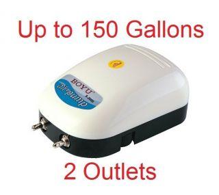 Gallon Adjustable Silent Quiet Air Pump Aquarium Fish Tank 2 outlet 3w