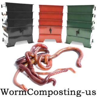 WORM FACTORY KITCHEN OR GARDEN COMPOST BIN   5, 6 OR 7 TRAY WORM FARM