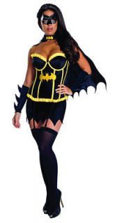 mask cape comic batman womens sexy costume halloween LARGE 12/14
