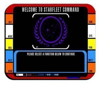STAR TREK MOUSEPAD ENTERPRISE CONTROL PANEL MOUSE PAD