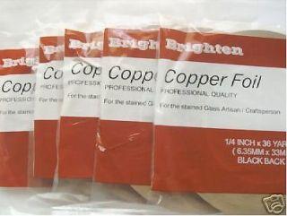 glass supples    copper foil( black back, copper back, silver back