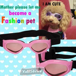 Summer Glasses Pet Dog UV Goggles Sun Glasses Pink Dog Cool Glasses