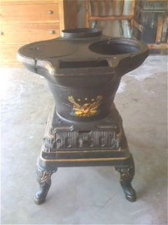 Antique Pot Belly Cook Stove,Kustom,A​ntiques,Wester​n,Cabin,Home