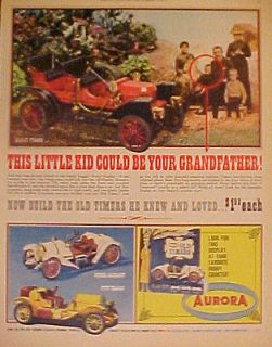 Stanley Steamer~Stutz Bearcat~Old Timers Vintage Toy Model Kits AD