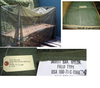 US MILITARY INSECT BAR MOSQUITO NETTING OVER COT NEW