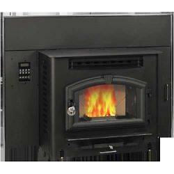 Multi Fuel Stove, Pellet or Corn Insert with igniter, 2,000 sq ft, M