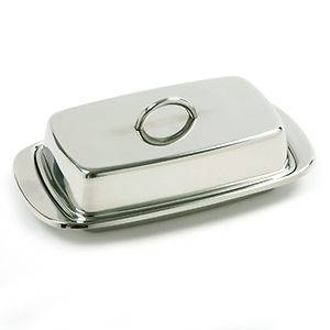 Norpro 282 Stainless Steel Wide Butter or Cream Cheese Dish