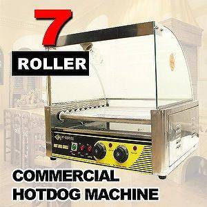 Commercial HotDog 7 Roller Grill Hot Dog Cooker Machine