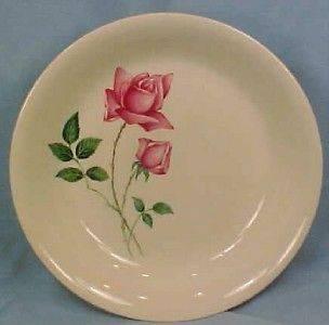 Pretty Retro BERMUDA ROSE SOUP BOWL Canonsburg Pottery