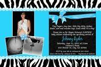 pink zebra baby shower invitations in Invitations