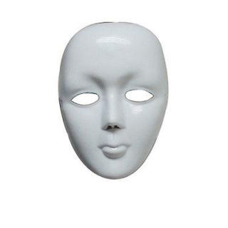 White Face Halloween Masquerade DIY Mime Mask Ball Party Costume Masks