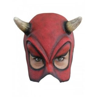 Half Mask Sexy Devil Halloween Costume Fancy Dress Scary Realistic