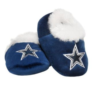 DALLAS COWBOYS Logo NFL Blue Baby Booties Grip Sport Slippers FREE