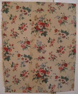 Antique Early 20th C. French Floral Wallpaper by Paul Dumas (8021