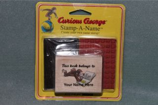 Curious George Create Your Own Stamp Stamp A Name Rubber Stamp NEW