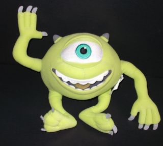Mike Wazowski Green Monsters Inc Plush Stuffed Animal Soft Toy 8