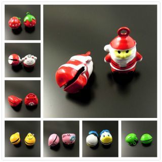 Jingle Bells Lot Craft Charm Christmas Santa Fish Love Cat Pig Phone