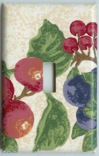 Light Switch Plate Outlet Covers LONGABERGER FRUIT MEDLEY BERRIES