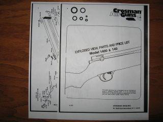 Crosman 160 Pellet Rifle Parts