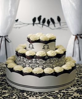 LOVE BIRD DAMASK 3 Tiers Cup Cakes Display Tower/Stand/Holder
