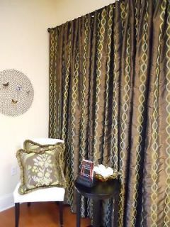 New Drapes embroidered faux silk Curtains Window Drapery custom made