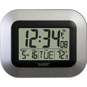 NEW La Crosse Technology Atomic Digital Wall Clock 2DaysShip