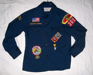 Official Boys Cubs Scout Shirt Boys Size 8 Long sleeve