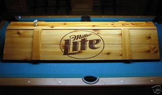 New Miller Lite Pool Table Light & Cue Rack Combo