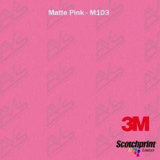 3M 1080 Matte Pink Vinyl Car Wrap Decal Film Sheet 4in x 6in SAMPLE