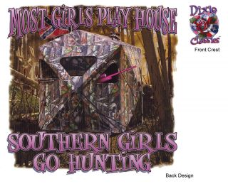 MOST GIRLS PLAY HOUSE, SOUTHERN GIRLS GO HUNTING, Dixie T Shirt