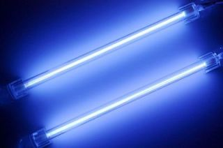 2x Blue 15cm Car Auto Exterior/Inter​ior Neon Light Lamp