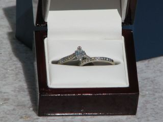 Blue Nile 18kt white gold engagement set GIA center Diamond .50 F/SI1