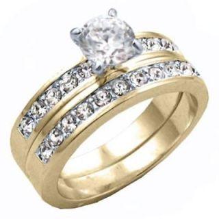 cubic zirconia wedding rings in Engagement & Wedding